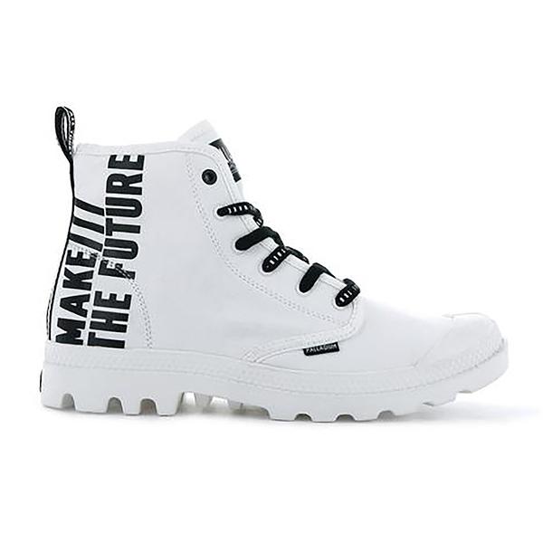 PALLADIUM PAMPA HI FUTURE男女款靴型帆布標語未來 76885116 白