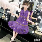 女童洋裝雪紡裙 2019新款夏季超洋氣兒童裙子時髦女孩公主裙 QX15190 『男神港灣』