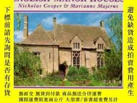 二手書博民逛書店English罕見Manor Houses (Country S