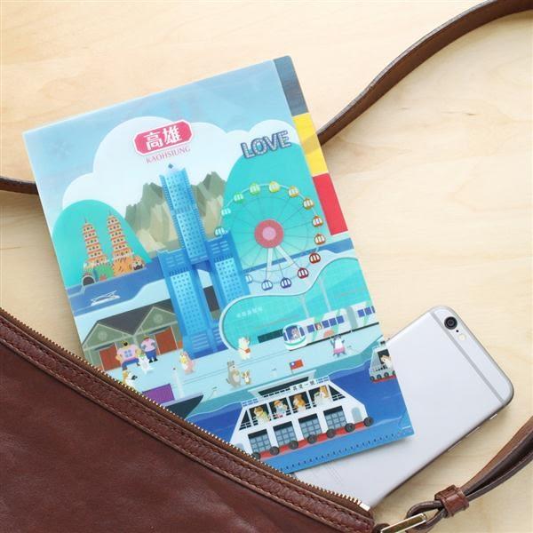 《貓狗散步/高雄》三層資料夾與明信片組【MIIN GIFT】
