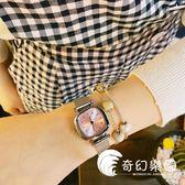 手錶-韓版金屬氣質手表簡約清新復古休閑腕表方形學生百搭女生小巧手表-奇幻樂園