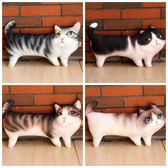 3D印花三腳貓抱枕可愛貓咪毛絨玩具貓咪公仔寵物擺件生日禮物  居家物語