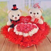 婚車熊公仔 婚慶娃娃花車小熊結婚禮物