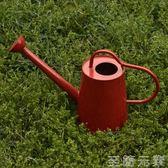 家用花園陽台園藝鐵制彩色澆花壺灑水壺   WD 至簡元素
