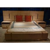[紅蘋果傢俱] CT-042後現代臥室系列 床 床頭櫃  歐式 高檔 簡約 不銹鋼輕奢