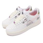Nike 休閒鞋 Force 1 07 LE 白 小白鞋 烏托邦 塗鴉 金屬淬火 男鞋【ACS】 DM5447-111