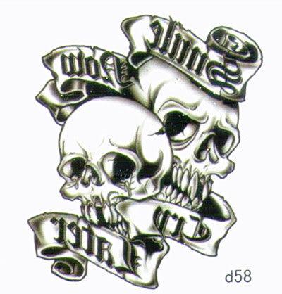 薇嘉雅  骷簍頭 超炫圖案紋身貼紙 d58