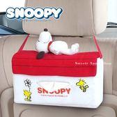 日本限定 SNOOPY 史努比 狗屋 娃娃 汽車用 掛式面紙盒套 / 面紙套