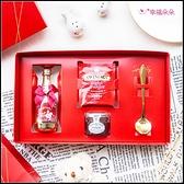 大紅四囍臨門禮盒(附贈精美提袋) 來店禮 情人節禮盒 創意糖果 聖誕節 工商禮品 喝茶禮回禮