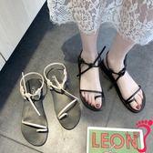 網紅涼鞋女仙女風學生百搭超火新款平底女鞋夏季韓版時尚羅馬