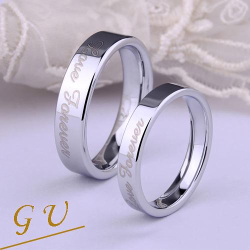 【GU】W07d 生日禮物男戒女戒對戒鎢鋼戒指 GresUnic Agloce 愛.永恆烏玄戒指 單賣
