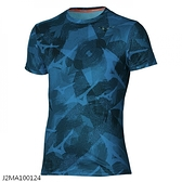 MIZUNO 男裝 短袖 T恤 路跑 透氣 散熱性 抗菌消臭 反光燙印 希臘藍【運動世界】J2MA100124