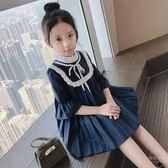 公主裙女童童裝韓版學院風百褶公主裙兒童季新款裙子 【販衣小築】