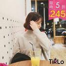 針織衫 -Tirlo-小高領簡約保暖針織衫-三色(現+追加預計5-7工作天出貨)