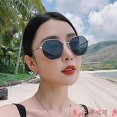 墨鏡墨鏡女潮2021年新款潮流街拍太陽鏡防紫外線圓臉大臉顯瘦網紅同款 芊墨左岸