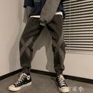 牛仔褲男寬鬆直筒春秋款ins百搭港風原宿褲子韓版潮流束腳褲【快速出貨】