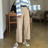 秋裝女裝韓版寬鬆百搭休閒褲顯瘦闊腿褲高腰直筒褲長褲 免運直出 交換禮物
