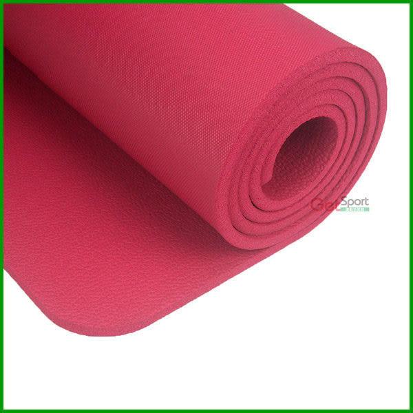 加厚瑜珈墊10mm(1公分瑜伽墊/NBR/台灣製造/運動墊/防滑瑜珈墊/附背袋/韻律墊)