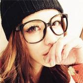復古大黑圓框眼鏡 鏡框 黑框 【櫻桃飾品】【23682】