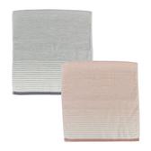 (組)和風無撚紗布漸層方巾34x35(粉)x1+(灰)x1