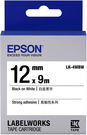 LK-4WBW EPSON 標籤帶(白底黑字/12mm) C53S654410