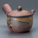 日本陶壺【信樂燒】紅美人 橫手急須0.3L 泡茶壺