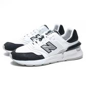 NEW BALANCE 997S 白黑 銀LOGO 皮革 網布 輕量 休閒鞋 男 (布魯克林) MS997LOM