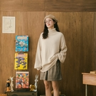 Queen Shop【01070998】高領純色針織寬版毛衣 八色售*現+預*