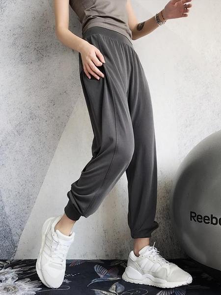 年終穿搭new Year annerun運動褲女寬鬆束腳收口跑步健身褲夏季薄款速干高腰瑜伽褲