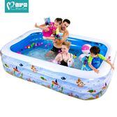 倍護嬰兒童游泳池充氣家庭嬰兒成人家用海洋球池加厚超大號戲水池igo  莉卡嚴選