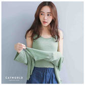 Catworld 正韓空運*粗針織背心加開襟罩衫外套兩件組【16600174】‧F