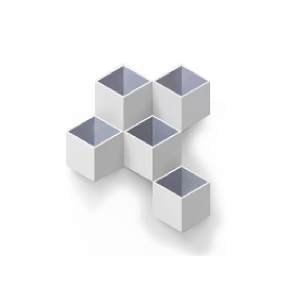 TOYOYO  trick box幾何造型文具收納架 - 淺灰/深灰
