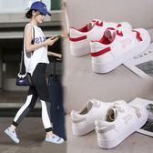休閒女鞋 復古港風鞋子夏季百搭平底帆布鞋女原宿港風板鞋-新主流