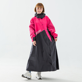 BrightDay-X武士斜開連身式雨衣-桃