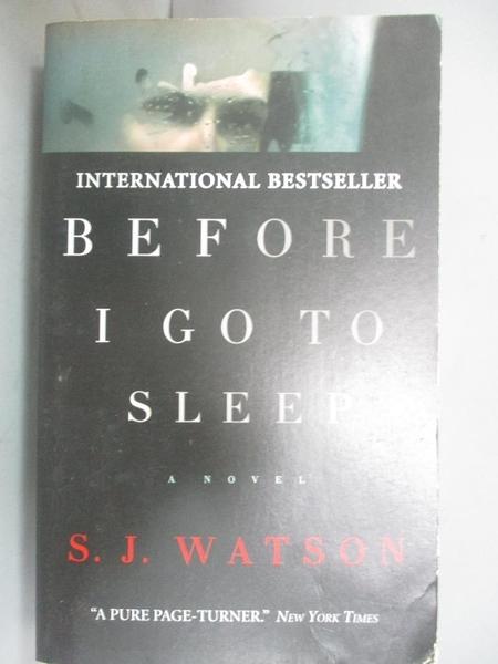 【書寶二手書T2/原文小說_JRR】Before I go to Sleep_S. J. Watson