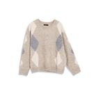 Queen Shop【01070934】菱格紋造型毛衣*現+預*