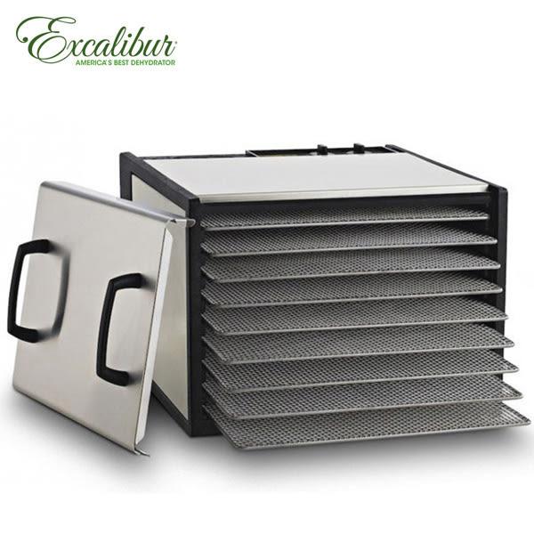★加贈35L大烤箱★ Excalibur 九層轉鈕式低溫乾果機/不鏽鋼外殼 900SHD+112372