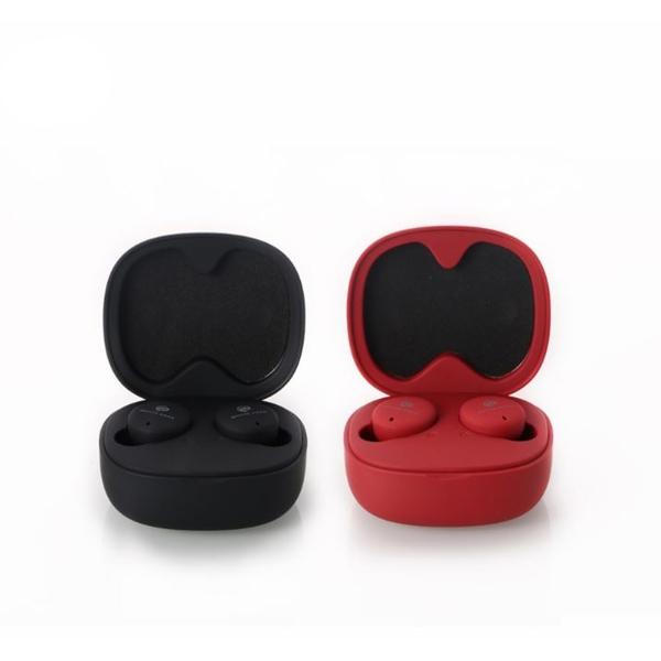 WK BD330 雙耳藍芽耳機 一體式收納充電盒 待機60小時 紅黑兩色 附多尺寸耳帽 正版台灣公司貨
