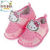 《布布童鞋》HelloKitty凱蒂貓粉色布質兒童嗶嗶學步鞋(12.5~15公分) [ C9U826G ]