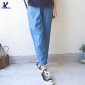 【早秋新品】American Bluedeer - 抽繩剪接長褲(特價) 秋冬新款