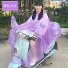 單人成人時尚透明防水男女騎行雨披 ·花漾美衣