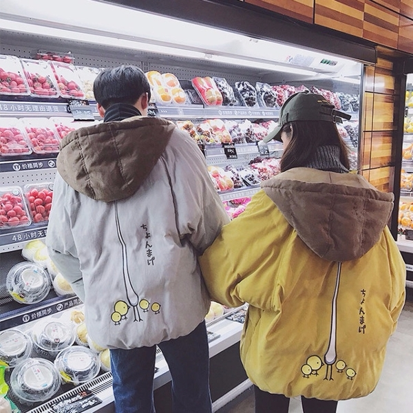 羽絨棉服 棉襖2021新款羽絨棉服女冬棉衣韓版寬鬆情侶工裝學生外套面包服秋 歐歐