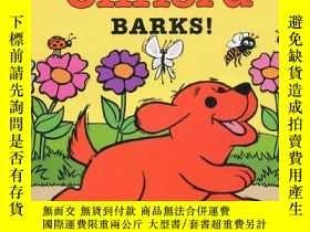 二手書博民逛書店Clifford罕見Barks! Board Book 愛叫的克裏弗 英文原版Y449926 Norman B