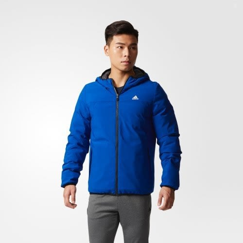 ADIDAS ITAVIC 男裝 連帽 羽絨外套 雙面 輕量 保暖 舒適 黑 灰 【運動世界】BQ8545
