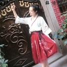 改良漢服女中國風cos服漢元素