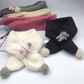 兒童圍巾 冬季兒童圍巾百搭純色羊羔毛絨男女 【免運86折】