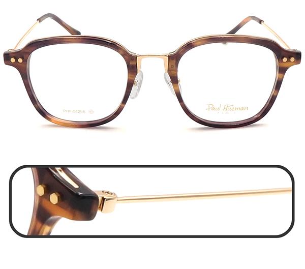 【台南 時代眼鏡 Paul Hueman】光學眼鏡鏡框 PHF-5129A C4 韓系時尚氣質文青風格 49mm