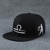 棒球帽12十二星座帽子男夏天正韓潮人百搭遮陽帽防曬帽女太陽鴨舌棒球帽 快速出貨