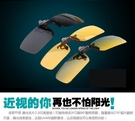 日夜兩用偏光近視夾片 可上翻金屬夾鏡 防紫外線可夾式太陽眼鏡 男士專用