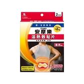 小林製藥 安摩樂溫熱敷貼片(腰/背部專用)2片裝【小三美日】
